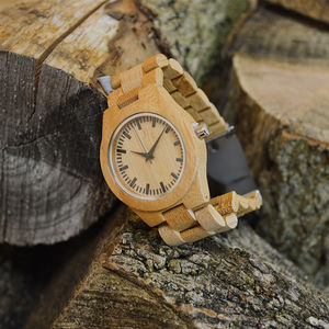 Personalised Bamboo Wrist Watch - watches