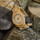 Personalised Gents Bamboo Wrist Watch