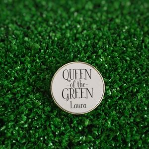 Personalised 'Queen Of The Green' Golf Ball Marker