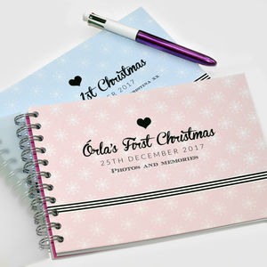 Babies 1st Christmas Memory Book - photo albums