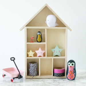 House Shaped Knick Knack Shelves Or Display Boxes - storage & organisers