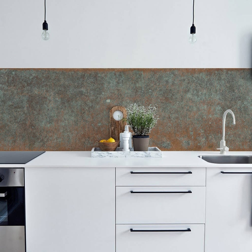 Bronze Copper Kitchen Walls Backsplash Wallpaper By Lime