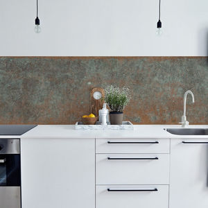 Bronze Copper Kitchen Walls Backsplash Wallpaper - wallpaper