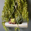 Zinc Tube Single Tiered Hanging Planter