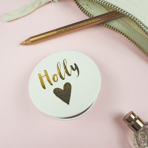 Personalised Compact Mirror - secret santa gifts