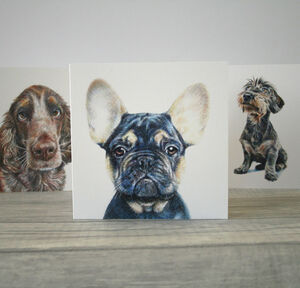 Dog Greetings Card Dachshund, Spaniel Or Frenchie