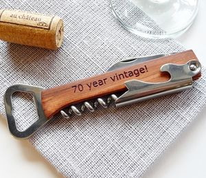 Personalised Wine Bottle Opener, Corkscrew - drink & barware