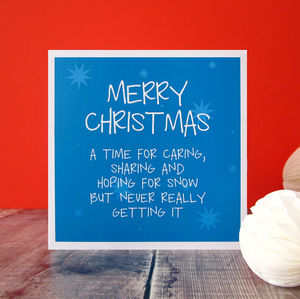 Hoping For Snow Christmas Card - cards