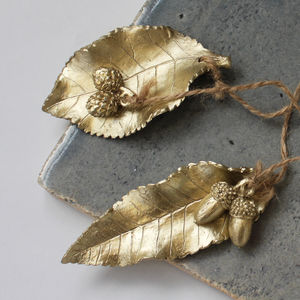 Hanging Metallic Leaf Decoration - view all decorations