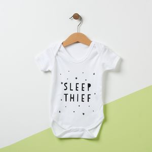 Sleep Thief Babygrow - baby shower gifts & ideas