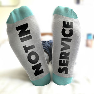 Feet Up Socks Not In Service - underwear & socks
