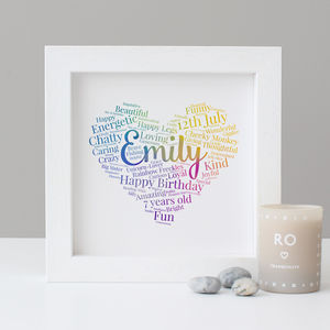 Personalised Children's Birthday Word Art Print