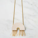 Tassel Arch Necklace