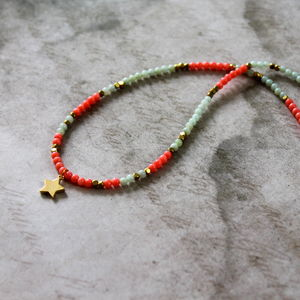 Childen's Semi Precious Stone Charm Necklace