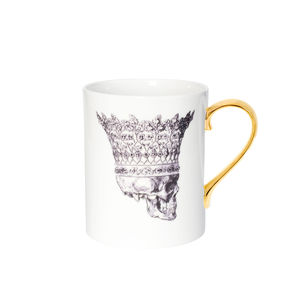 Skull In Crown Bone China Mug - mugs