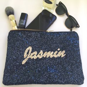 Personalised Glitter Clutch