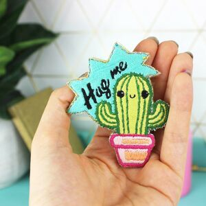 Cactus Embroidery Patch Craft Kit