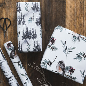 Watercolour Christmas Gift Wrap Set
