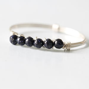 Silver With Lapis Lazuli Stone Ring - jewellery sale