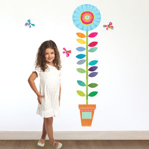 Personalised Childrens Flower Height Chart - children's room