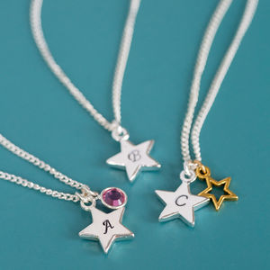 Personalised Star Charm Necklace - necklaces & pendants