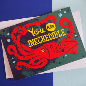 Funny Nautical Squid Pun Anniversary Card