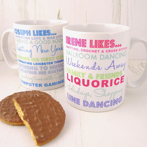 Personalised Loves Mug - our 50 favourite mugs