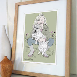 Personalised Portrait With Your Pet - gifts from pets
