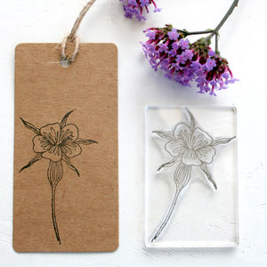 Corncockle Wild Flower Clear Rubber Stamp