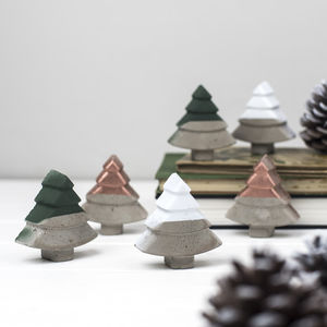 Concrete Christmas Tree Decorations - christmas trees