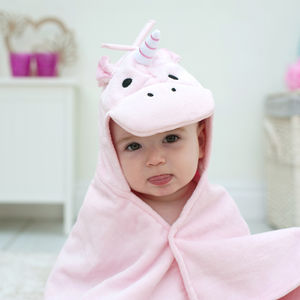 Personalised Unicorn Baby Towel - bathroom