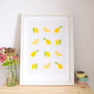 Lemon Illustrated Art Print