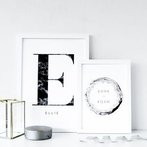 Personalised Name And Initial Print Set - new in home