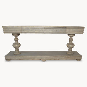 Woodcroft Balustrade Colonial Grey Console Table