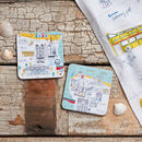 Whitby Map Cork Backed Coasters