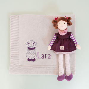 Evie Rag Doll With Personalised Blanket