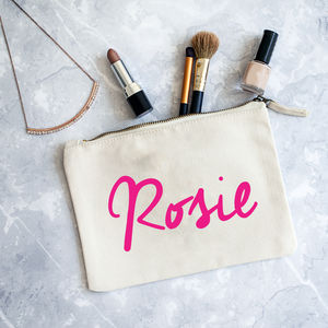Personalised Name Make Up Bag - wash & toiletry bags