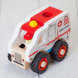 Childrens Ambulance Wooden Toys