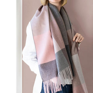 Personalised Brushed Check Blanket Scarf - gifts for her