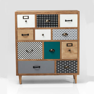 Eclectic 11 Drawer Dresser - living room