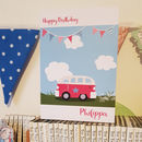 Campervan Birthday Card A5