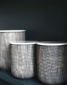 Ceramic Danish Storage Jars - canisters