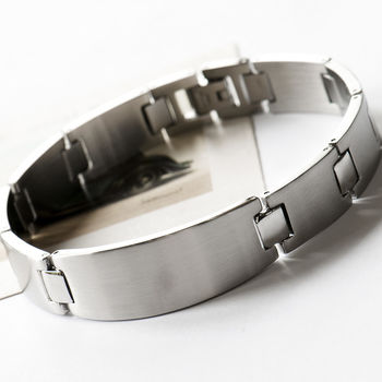 Men's Stainless Steel Solid Link Bracelet