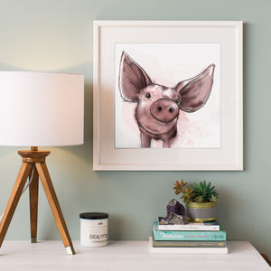 Illustrated Pig Print