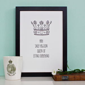 King And Queen Personalised Prints - prints & art sale