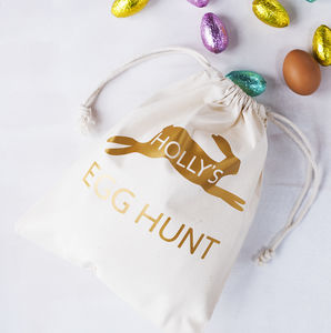 Personalised Rabbit Easter Egg Hunt Sack