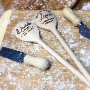 Personalised 'Kitchen' Wooden Spoon - baking