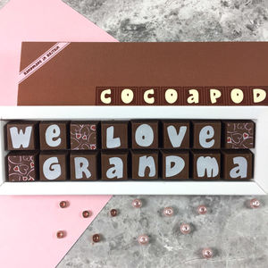 Granny And Grandmas Personalised Chocolate Gift - personalised