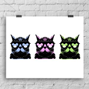 A Trio Of Pop Art Cats A4 Heavyweight Art Print
