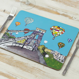 Balloons Over The Toll Bridge Bristol Placemat